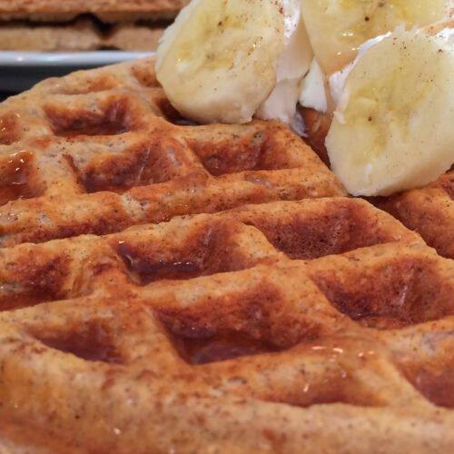 Banana Nut Protein Waffles Recipe