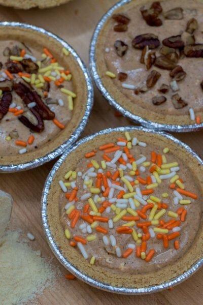 No Bake Mini Pumpkin Cheesecakes Recipe