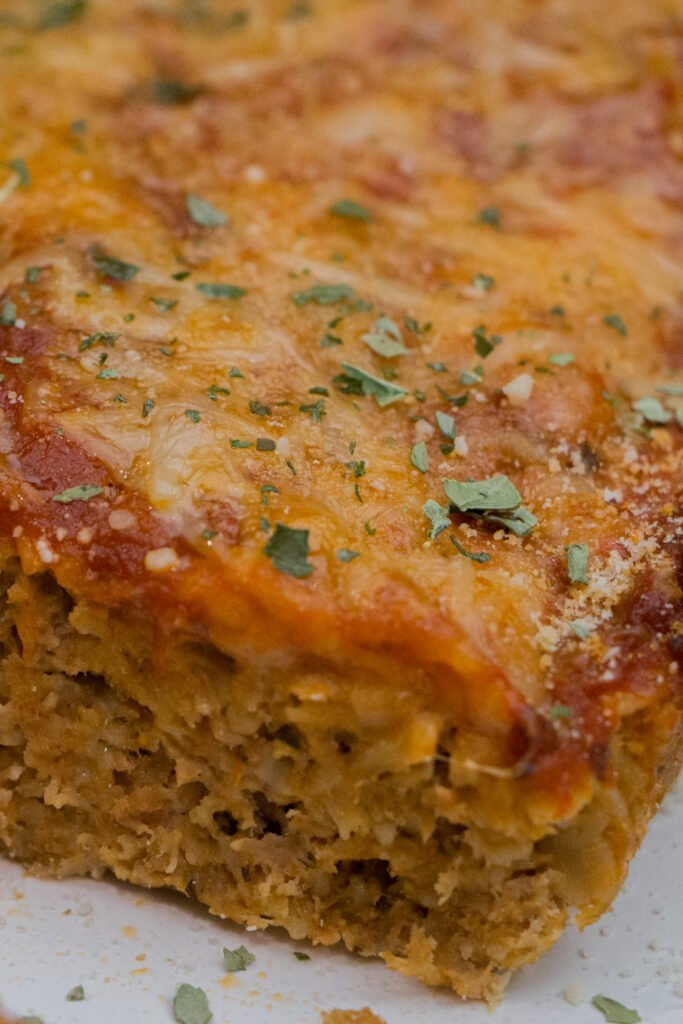 High Protein Meatloaf Parmesan Recipe