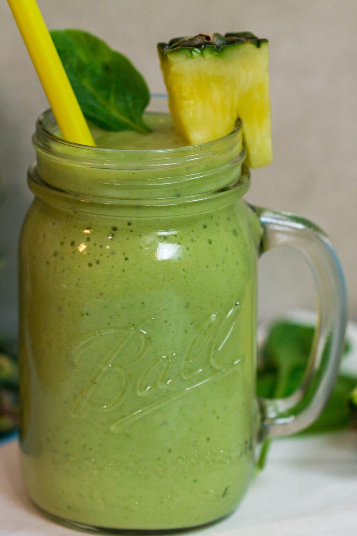 Green Pina Colada Smoothies Recipe