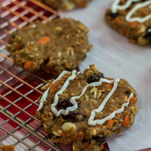 Carrot Cake Oatmeal Protein Cookies Recipe