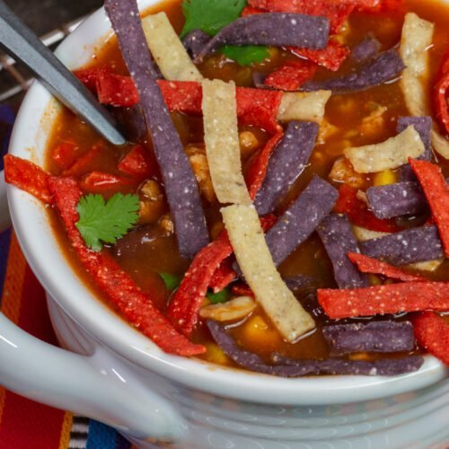 Slow Cooker Turkey Tortilla Soup Recipe