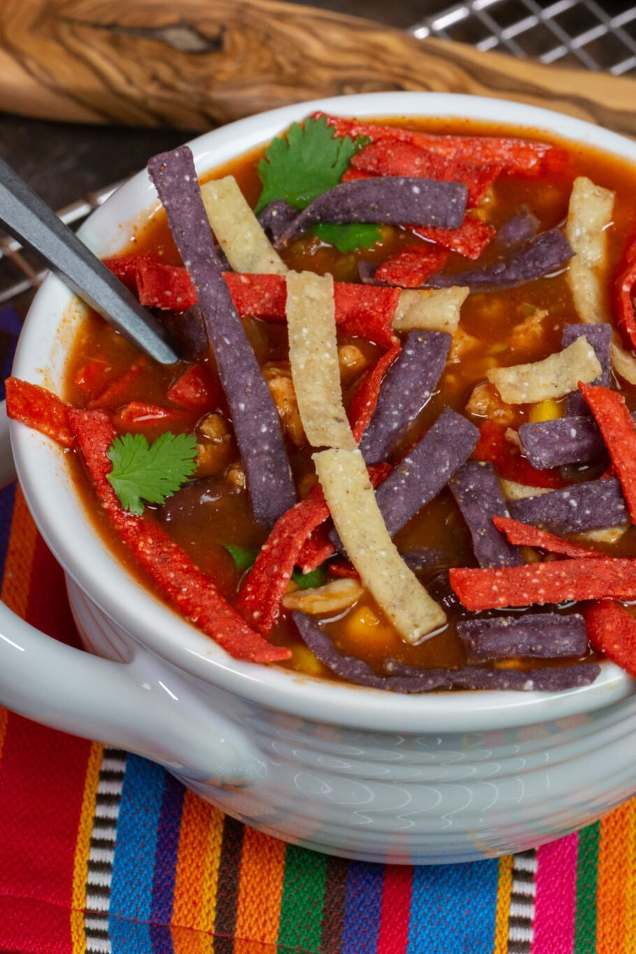Slow Cooker Turkey Tortilla Soup Recipe