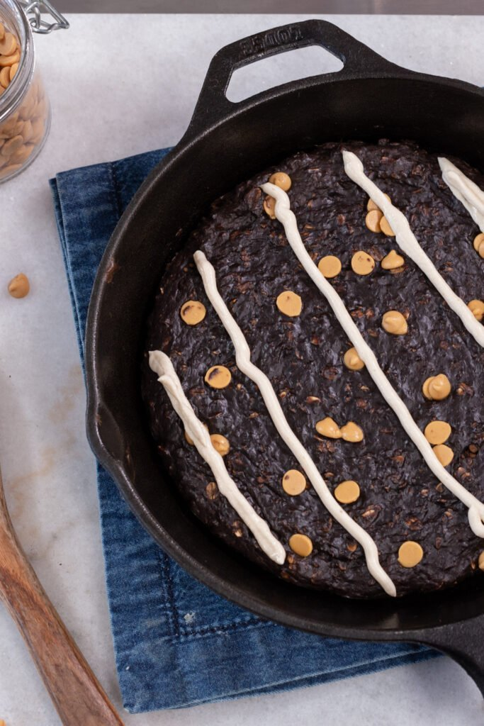 Chocolate Baked Protein Oatmeal Skillet Recipe