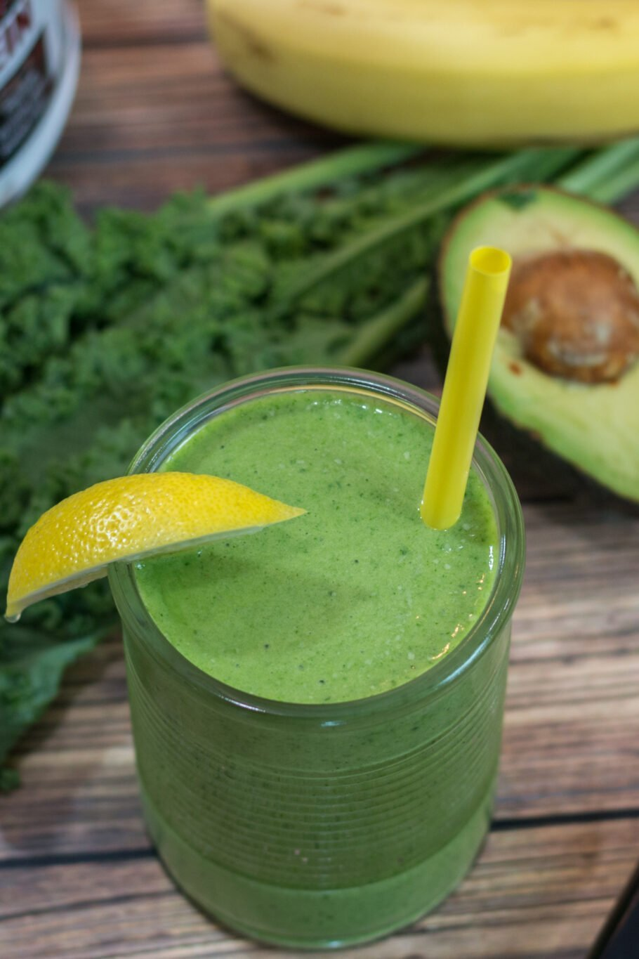 Avocado Banana Green Energy Smoothie Recipe