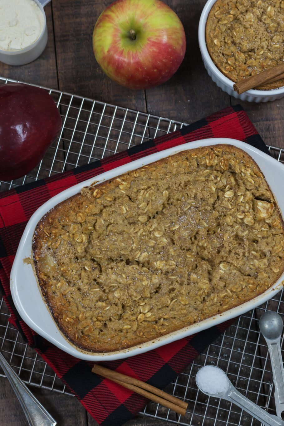 Baked Apple Pie Protein Oatmeal Recipe