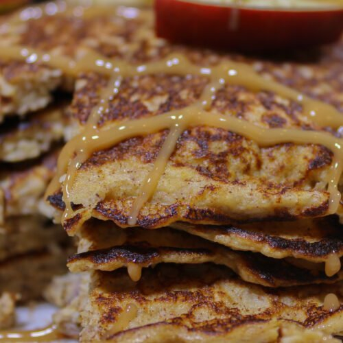 Caramel Apple Protein Pancakes Recipe
