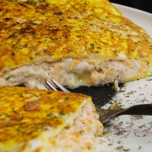 Easy Cheesy Tuna Omelette Recipe