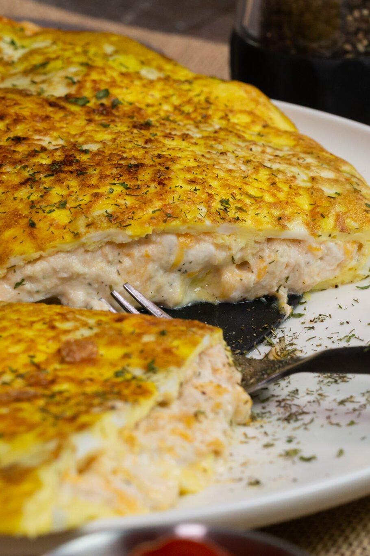 Easy Cheesy Tuna Omelette Recipe