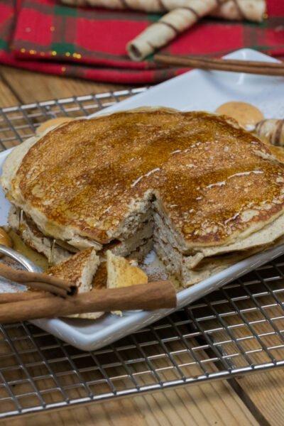 Eggnog Protein Pancakes Recipe
