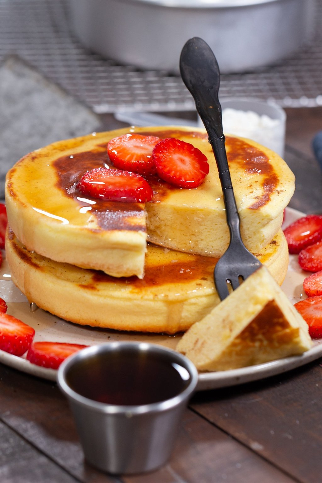 Fluffy Protein Japanese Pancakes Recipe The Protein Chef