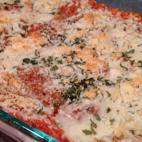 Quinoa Chicken Parmesan Recipe