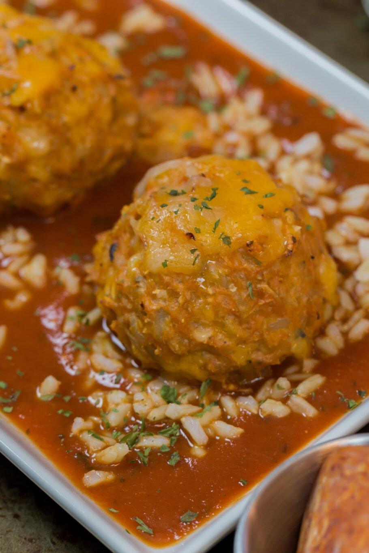 Rice Pizza Meatballs Recipe
