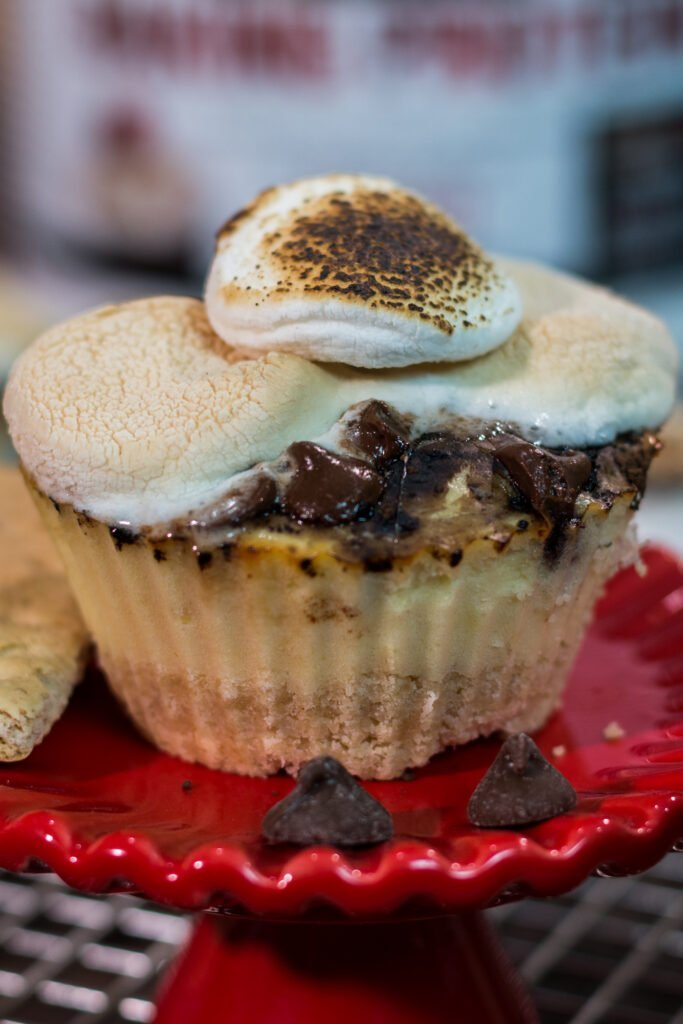 S'mores Cheesecake Protein Cupcakes Recipe