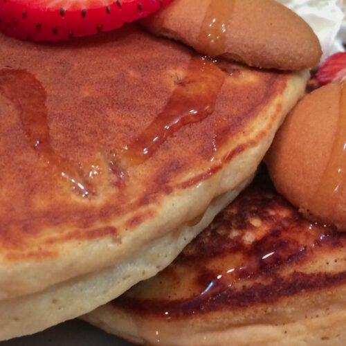 Strawberry Shortcake Protein Pancakes Recipe