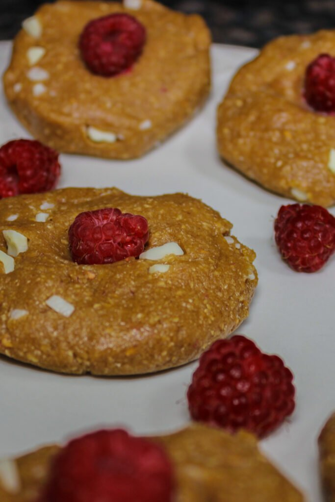 White Chocolate Raspberry Protein Cookies Recipe