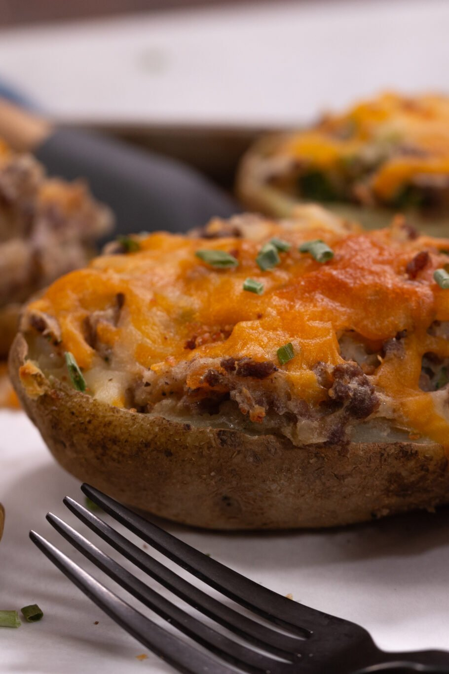 Loaded Twice Baked Potatoes Side