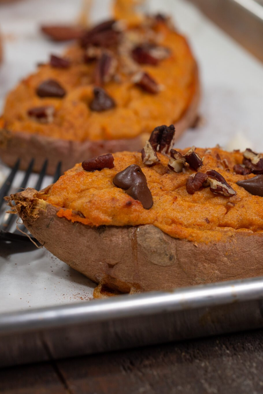 Loaded Twice Baked Sweet Potatoes Side