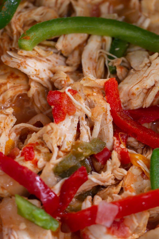 Low Carb Slow Cooker Chicken Fajitas Close