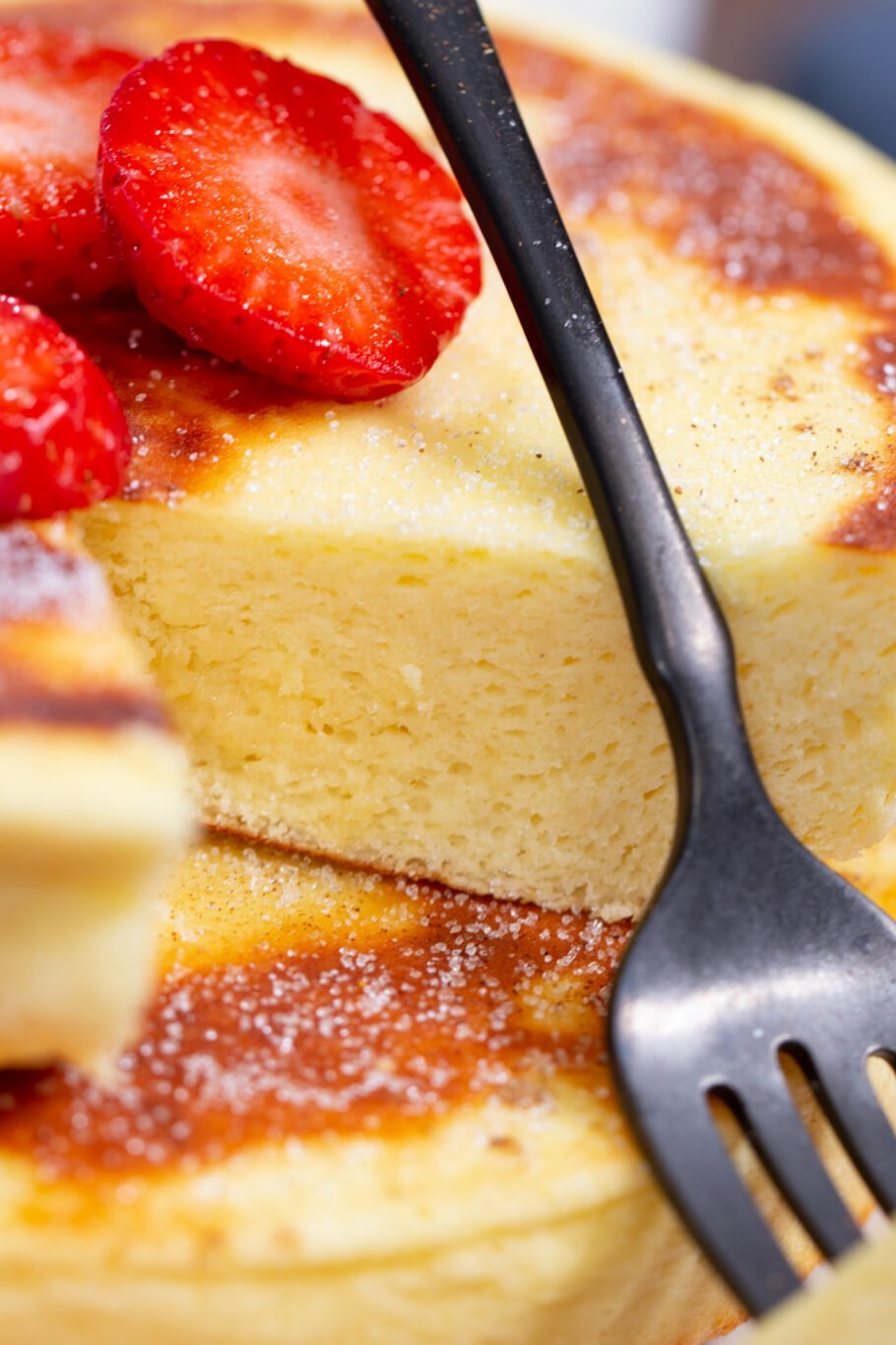 Protein Fluffy Japanese Pancakes Close