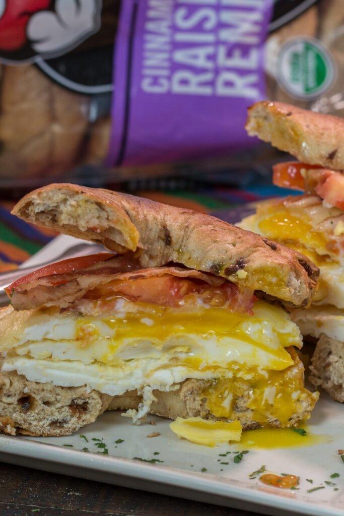 Quick & Easy Breakfast Bagel Sandwich